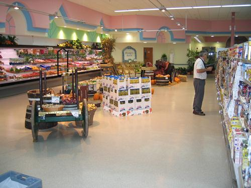 stonshield flooring in grocery store