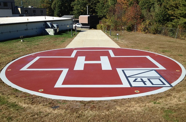 stongard tm flooring on hospital helipad